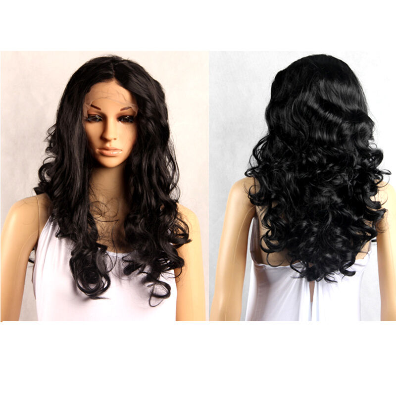 Womens Fashion Mj Style Long Curly Wave Lace Front Cosplay Party Synthetic Wigs Ebay
