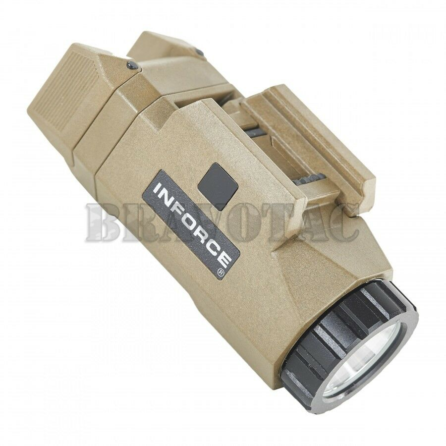 inforce apl fde tan tactical auto pistol light universal weapon rail mount 200lm ebay. Black Bedroom Furniture Sets. Home Design Ideas