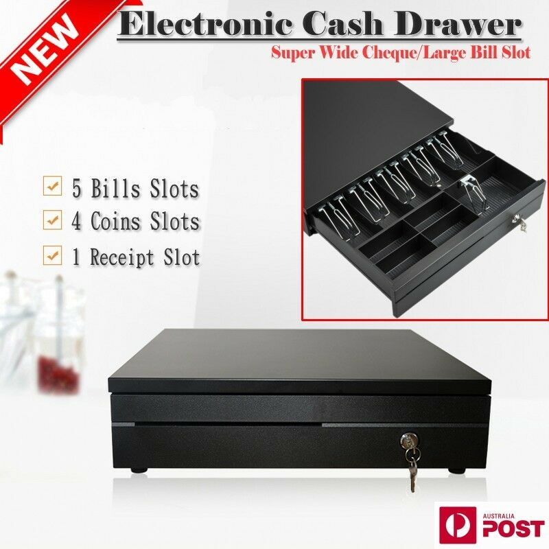 Solid Metal Electronic Cash Draw Till Box Drawer Lockable