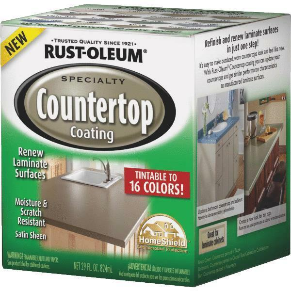 Rustoleum Countertop Paint On Tile : Pack RustOleum Deep Base Satin Laminate Countertop Coating Kit ...
