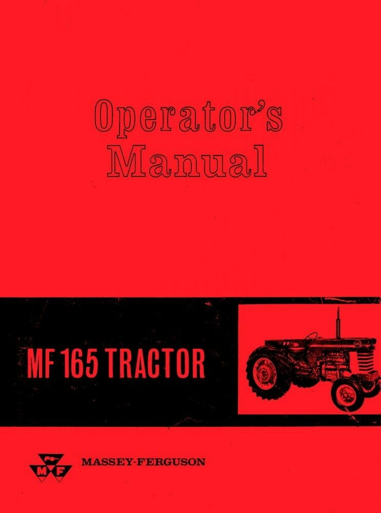 massey ferguson mf 165 tractor operators manual ebay Owner's Manual Environmental Manual