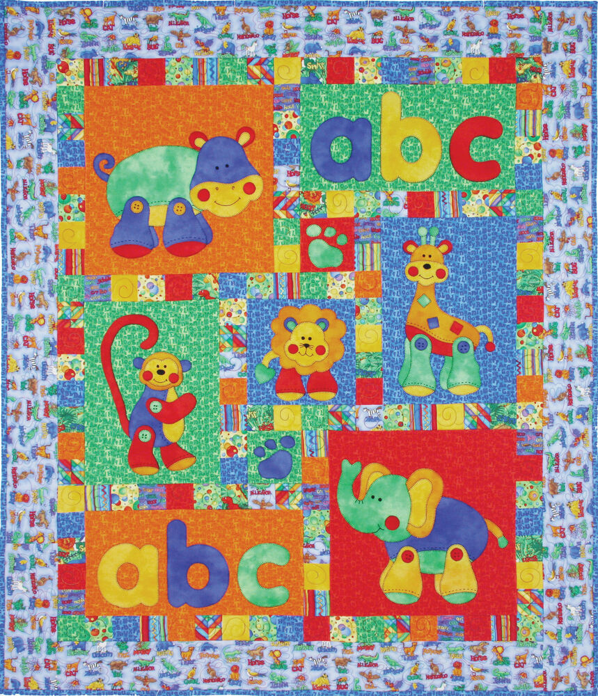 Kids Quilts Alphabet Jungle Applique Quilt Pattern | eBay