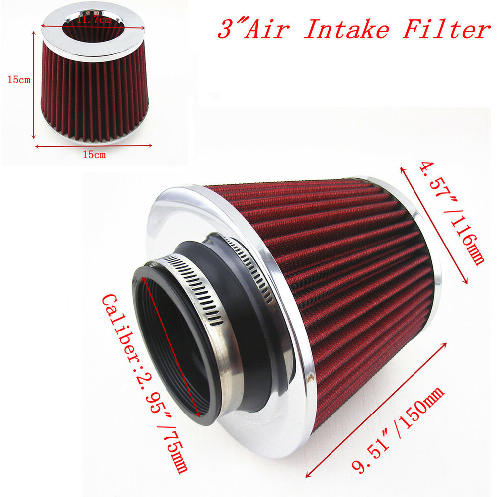 Cold Air Air Cleaner : Quot mm car suv pickup high flow turbo cold air intake