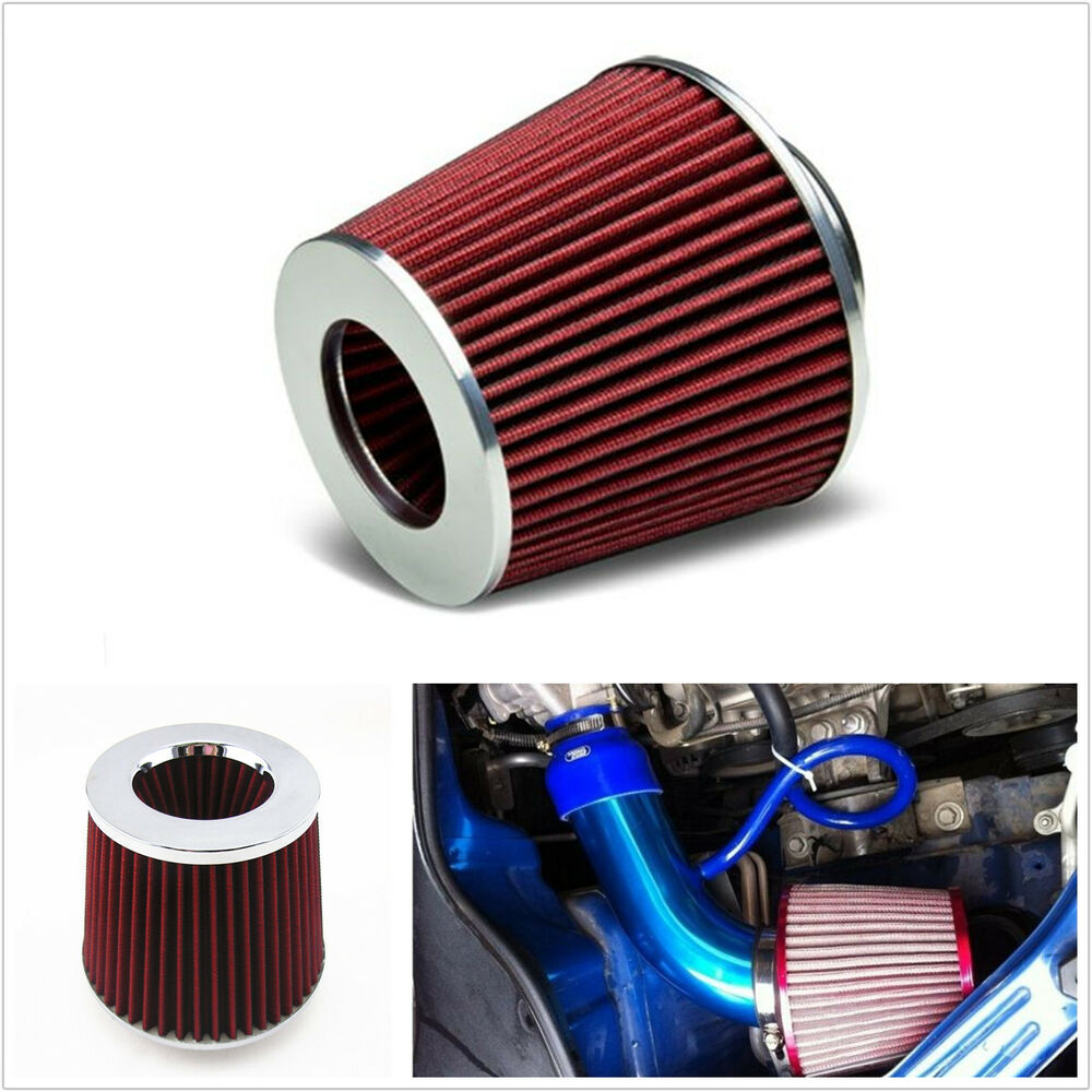 Cold Air Air Cleaner : Red quot mm car suv high flow short ram cold air intake
