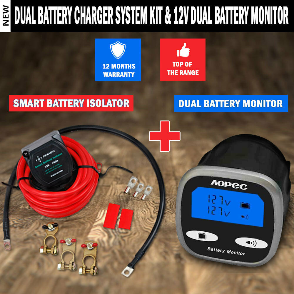 600 Amp Battery Charging System Monitor : New amp dual battery charger system kit v
