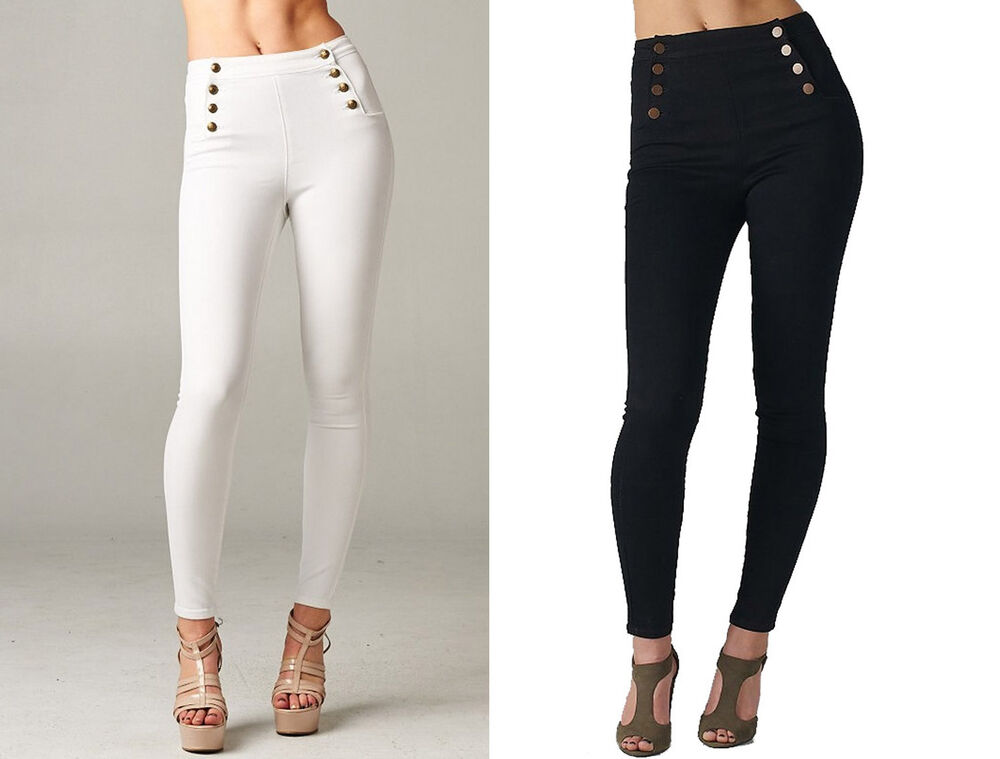 Sailor High Waisted Skinny Jeans Stretch denim Jeggings Cello ...