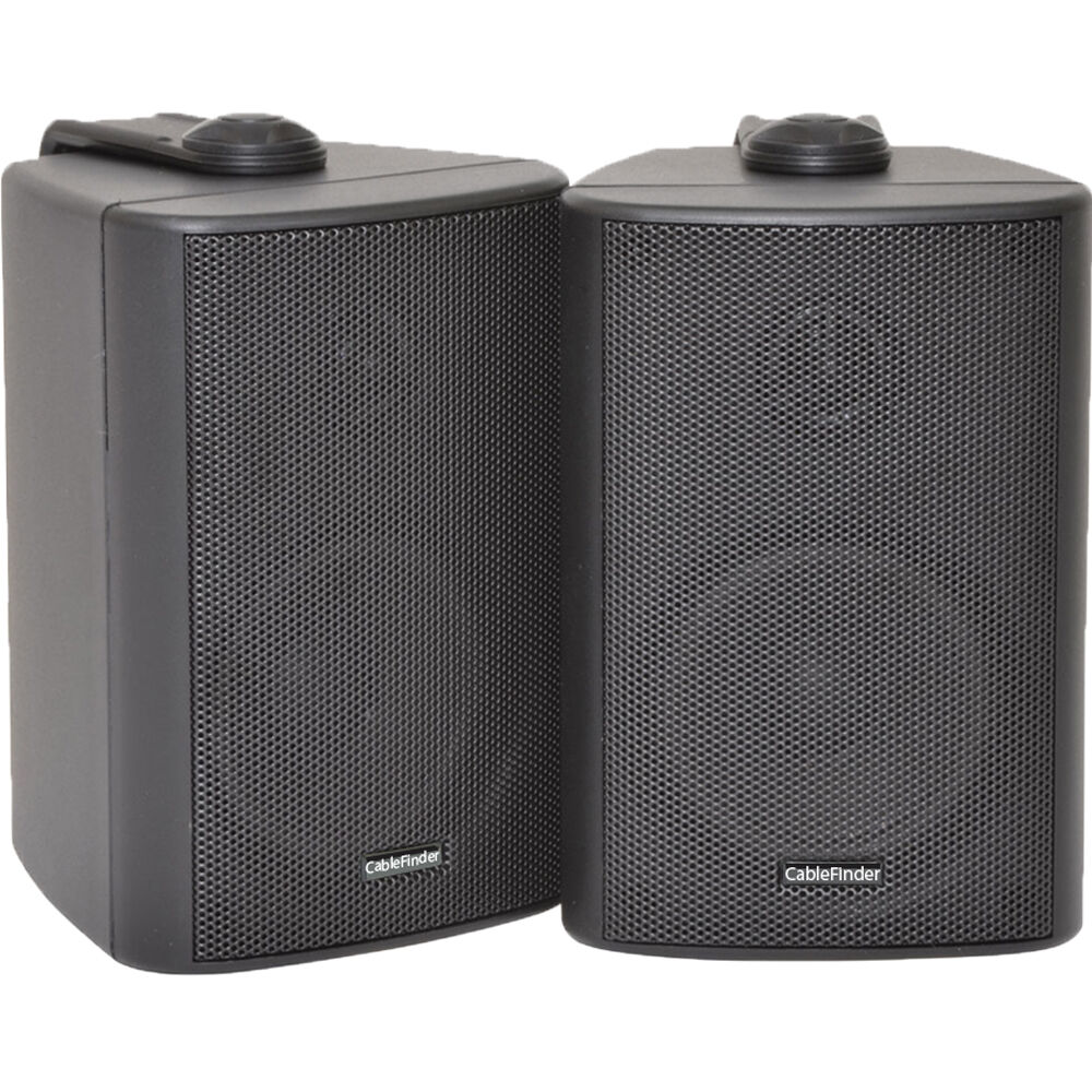 Pair 3 2 Way Compact Stereo Hifi Speakers 60w 8ohm Black