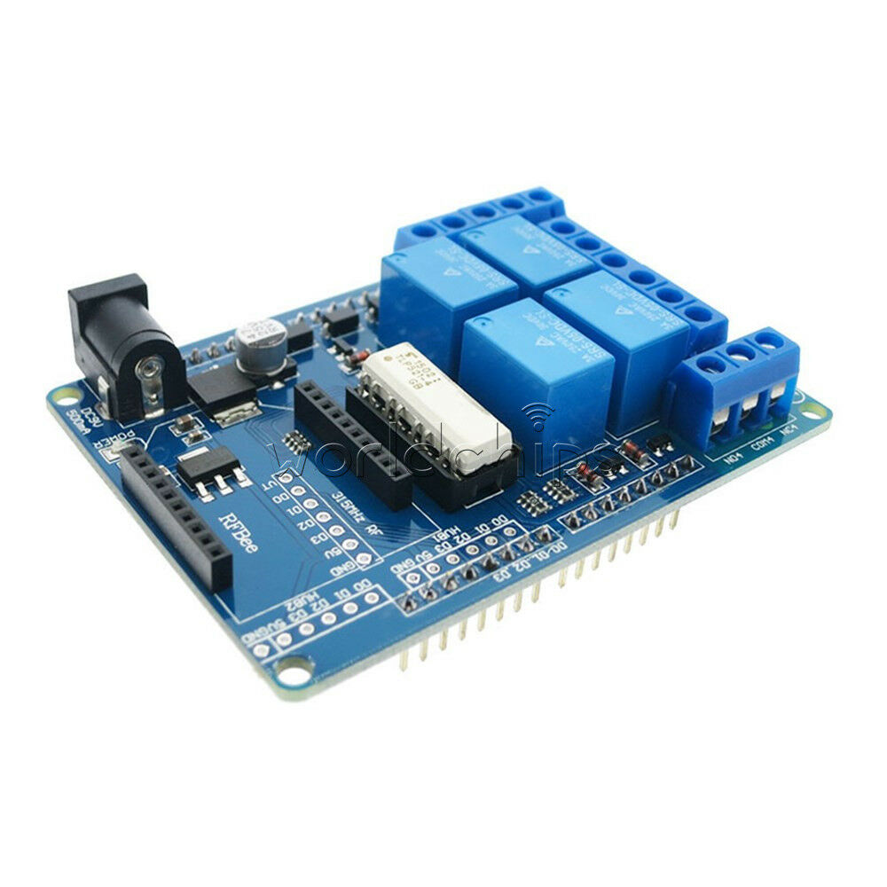Dc v mechanical channel relays shield module for