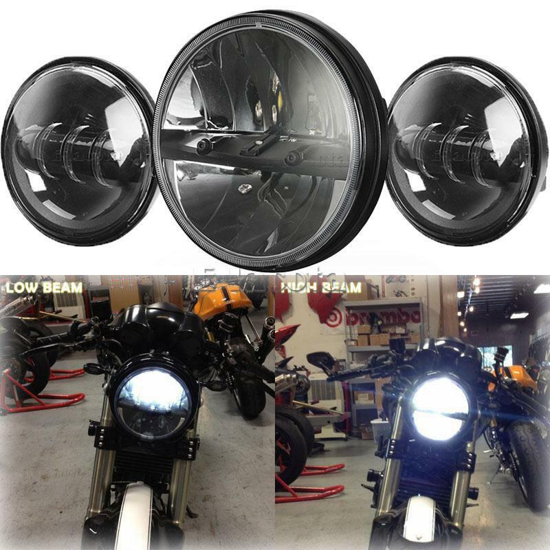 7 Quot Projector Headlight Passing Lights For Harley Heritage