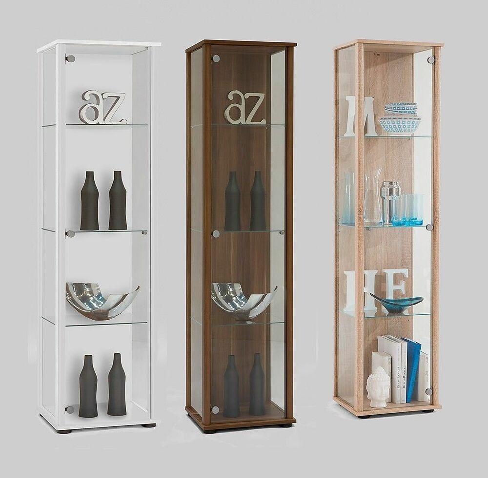 Bora1 Floor Standing Glass & Wood Display Trophy Cabinet