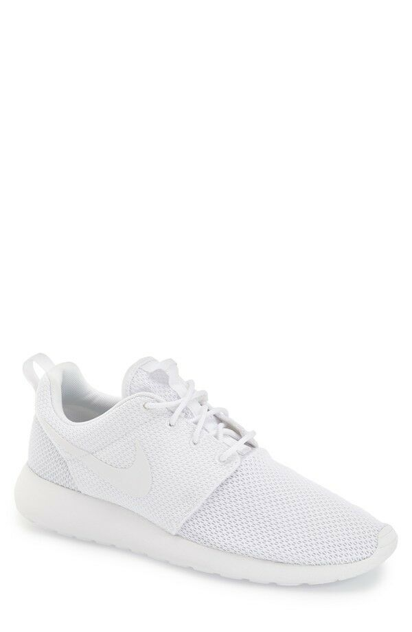 b5f7a1afdc1f Details about NEW Mens Nike Roshe Run One Casual Shoes Triple White 511881- 112
