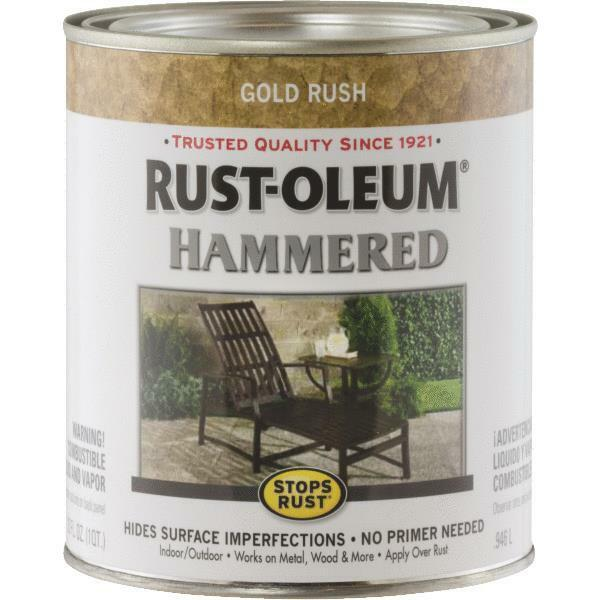 1 qt gold rust oleum gloss hammered metal finish oil base paint 7210 502 ebay for Rustoleum exterior metal paint