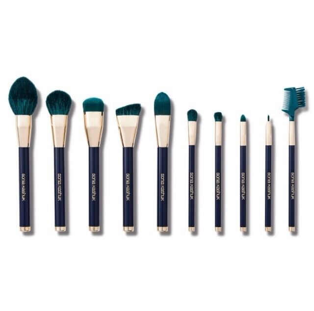 b70e7372456 Details about Sonia Kashuk Limited Edition Color Crazed 10 Piece Brush Set  Turquoise Makeup