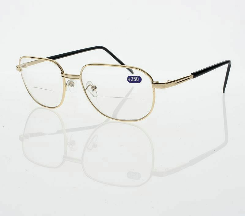 Gold Frame Reading Glasses : Bifocal Aviator Oversize Reader Reading Glasses Clear Lens ...