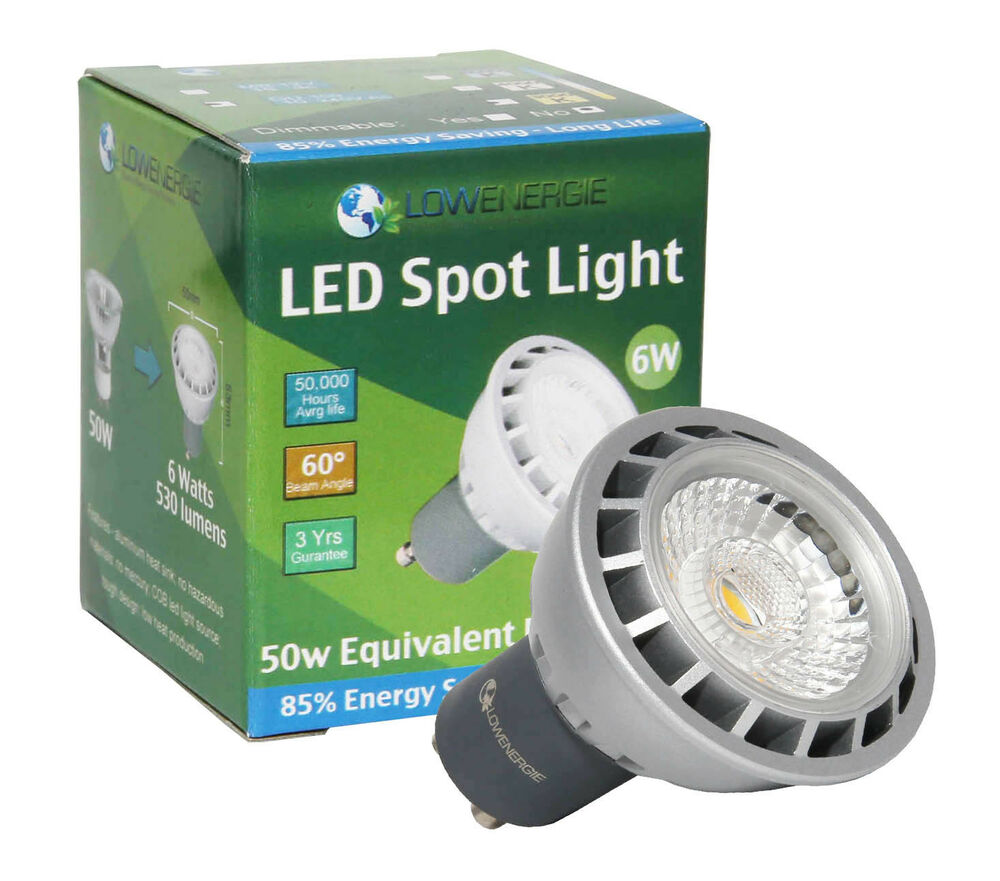 Lowenergie 6w Led Cob Spot Light Bulb High Power Gu10 Mr16 Energy Saving Ukstock Ebay