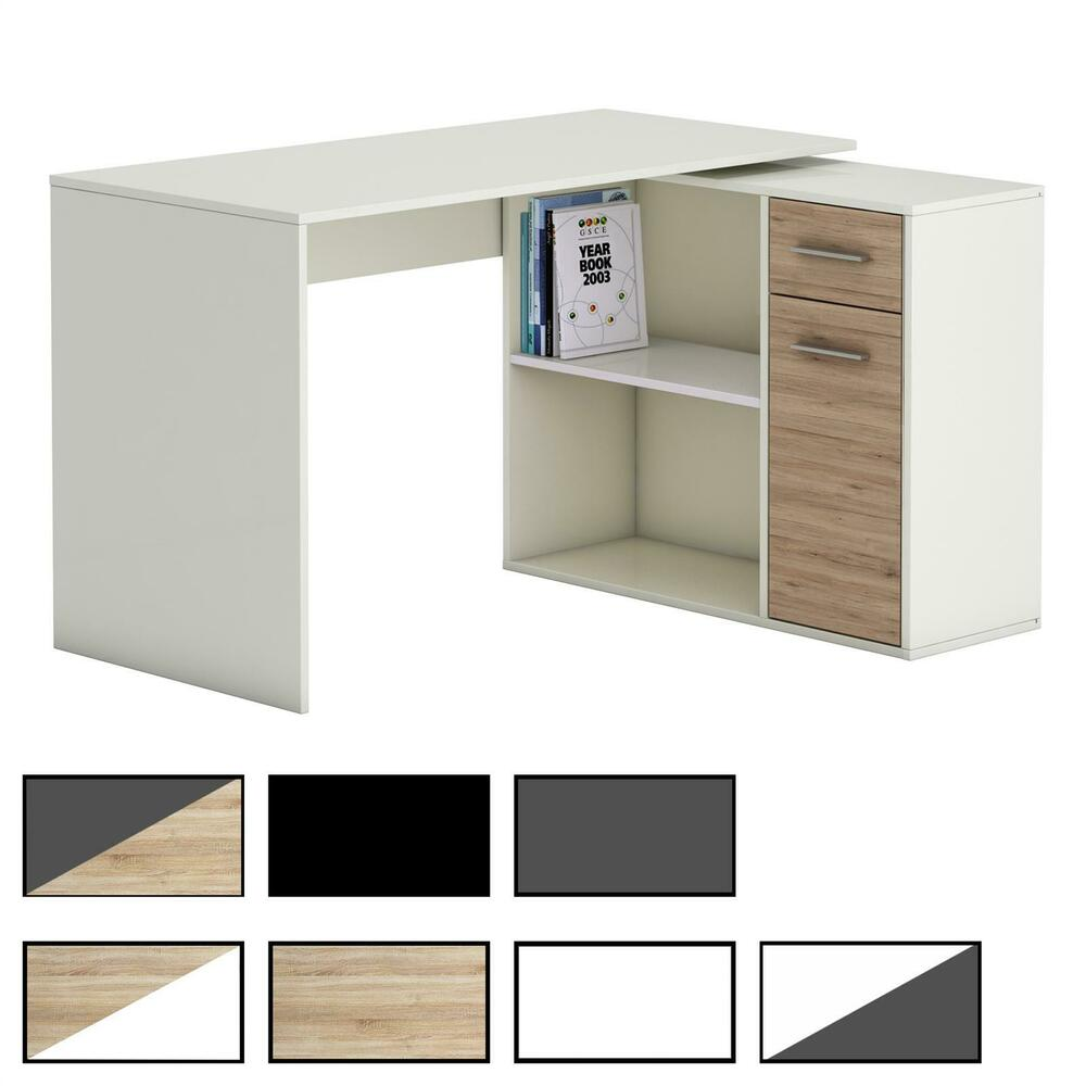 schreibtisch eckschreibtisch kinderschreibtisch computertisch mit regal jugend ebay. Black Bedroom Furniture Sets. Home Design Ideas