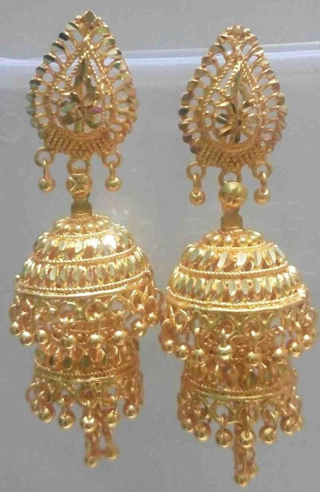 22k 24k Gold Plated Traditional South Indian Earrings ...