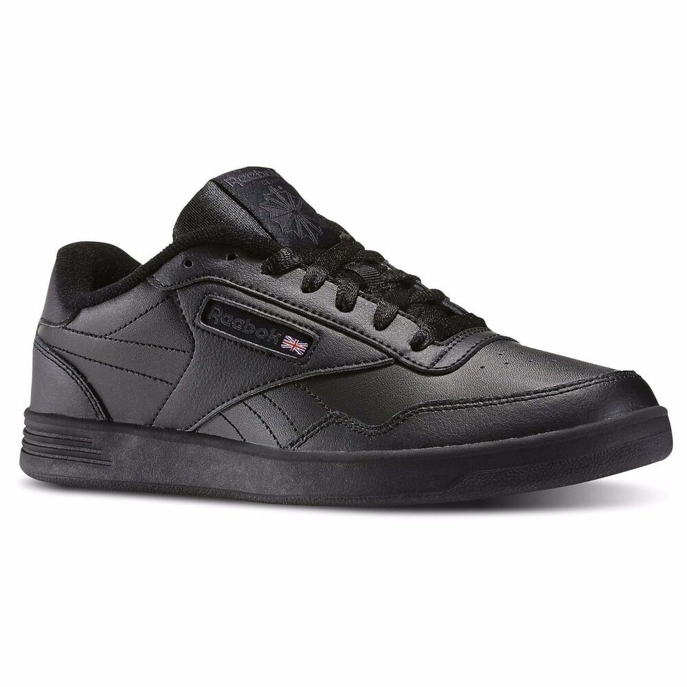 Reebok Classic Leather Original   Black Leather Men S Shoes Sneakers