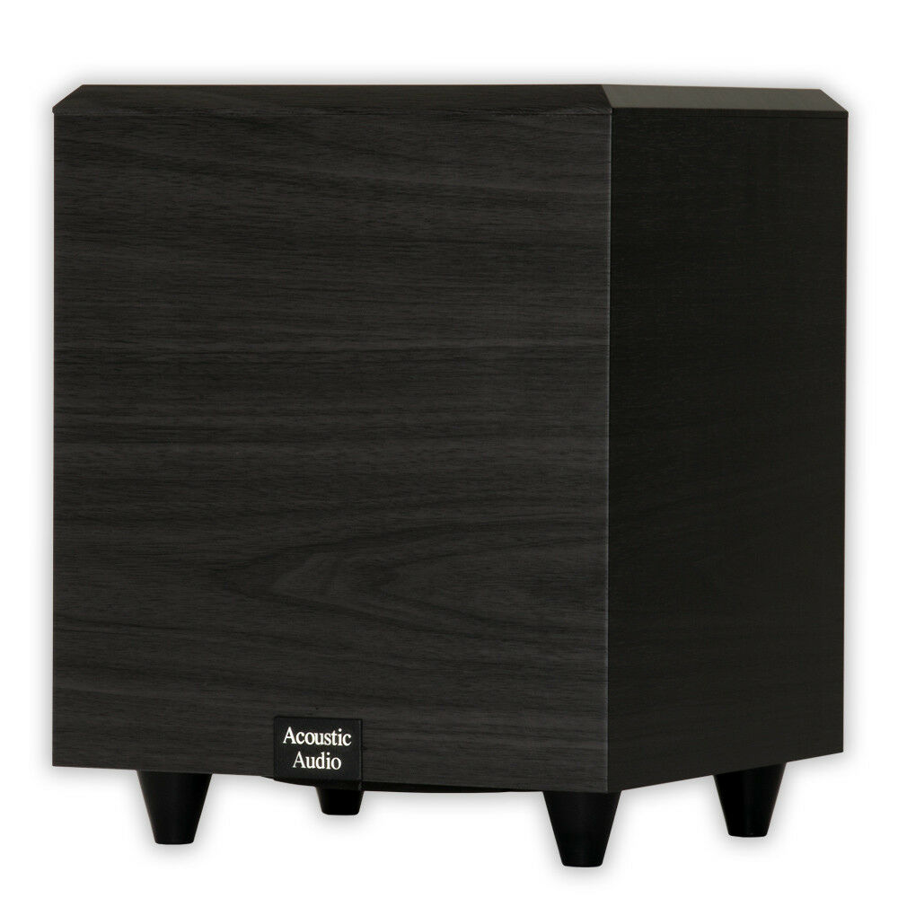 acoustic audio psw 6 home theater powered 6 5 subwoofer 250 watts surround ebay. Black Bedroom Furniture Sets. Home Design Ideas