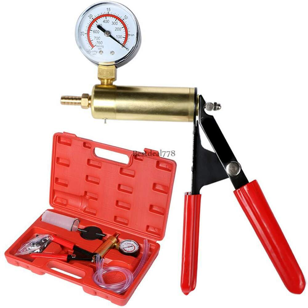 Brake Vacuum Pump : Hand held brake bleeder tester set bleed kit vacuum pump