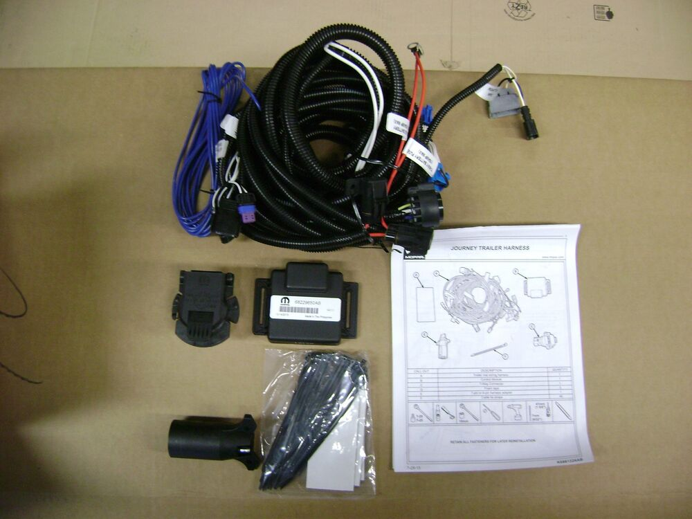 Jeep Cherokee Trailer Tow Wiring Kit 7 Way Round And 4 Way Flat New Oem Mopar