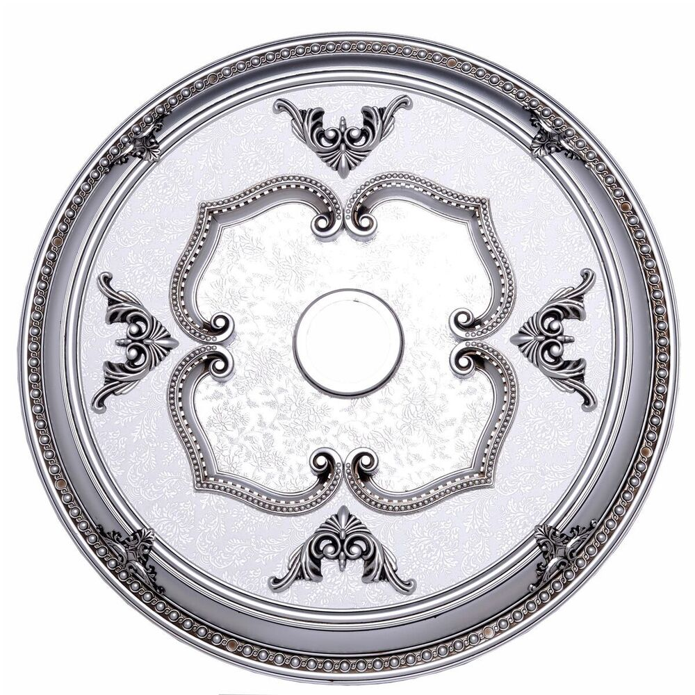 Foyer Ceiling Medallion : Quot beautiful pewter color ceiling medallion for