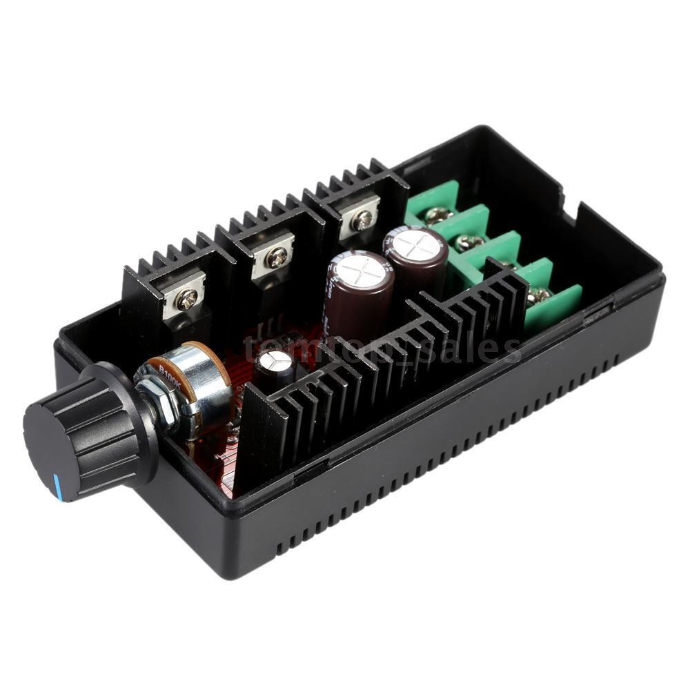 10 50v 40a 2000w adjustable pwm dc motor speed controller for Speed control electric motor
