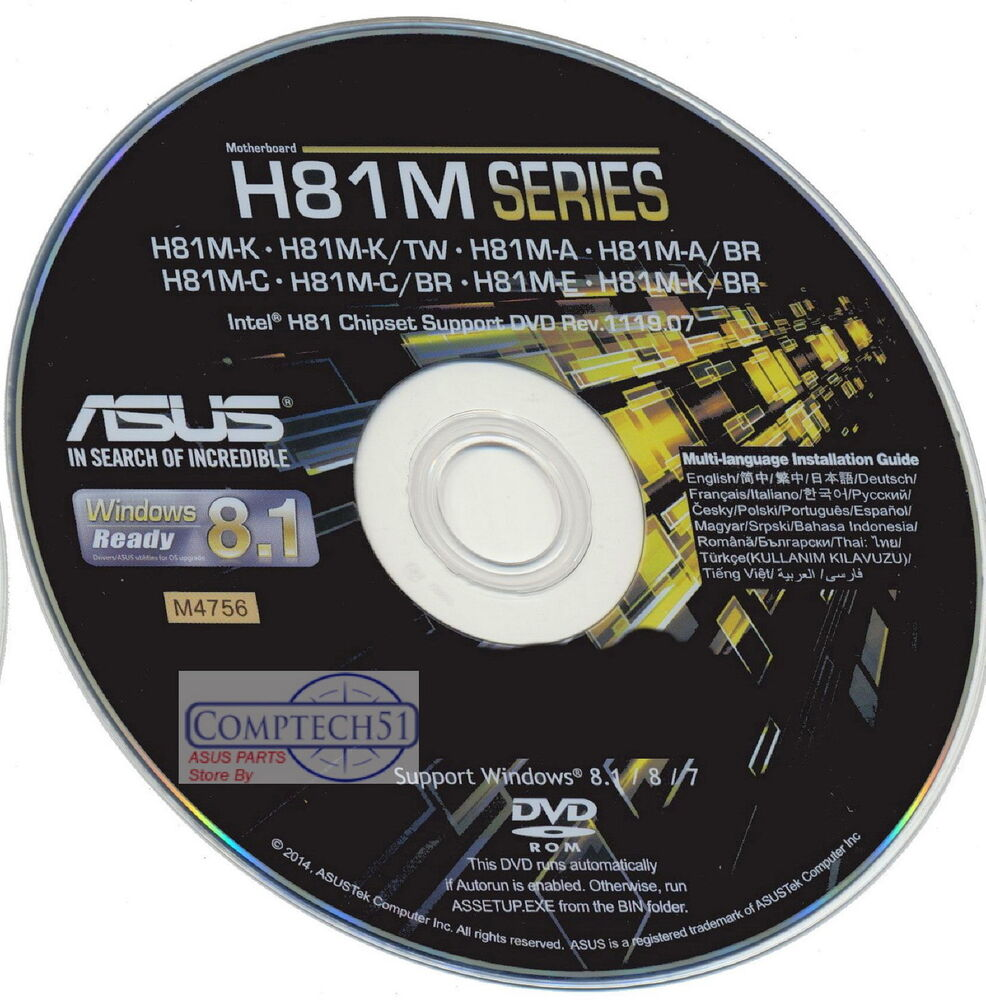 ASUS H81M E BR MOTHERBOARD AUTO INSTALL DRIVERS M4756