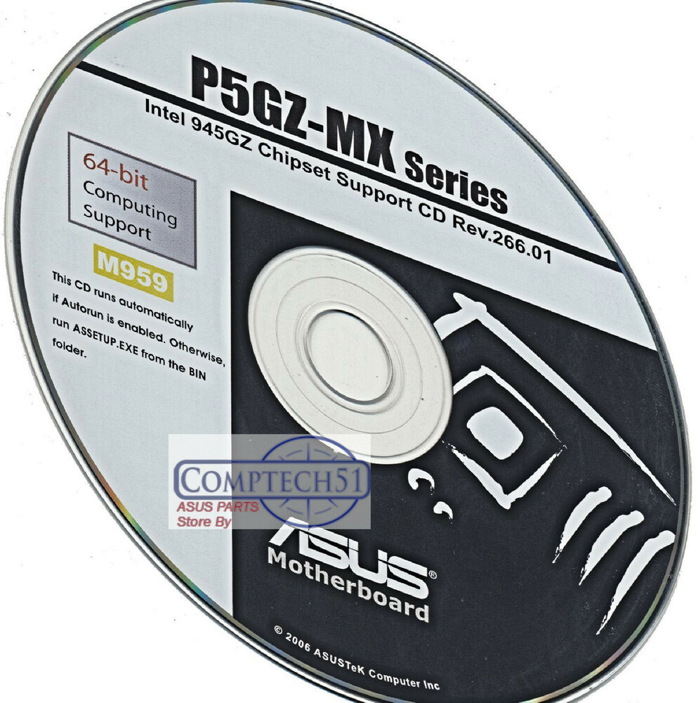 Asus p5gz-mx motherboard drivers installation disk m1115 $15. 99.