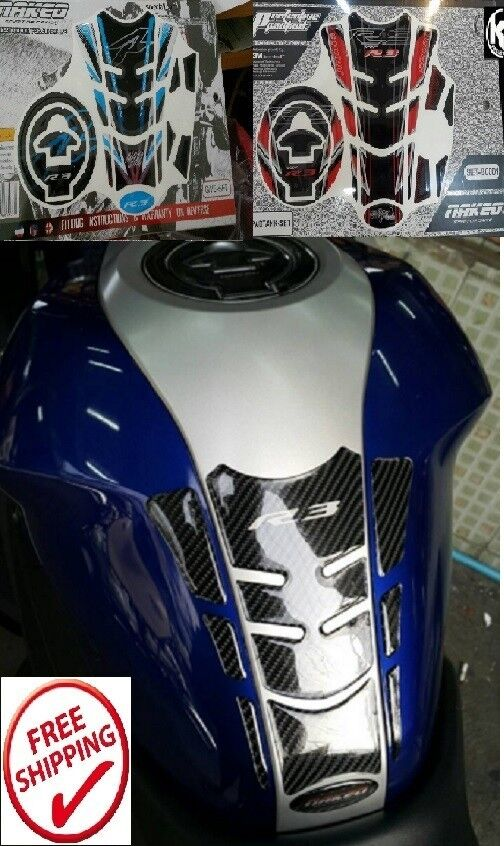 Yamaha R3 Mt03 Oil Tank Pad Fuel Protection Sticker Set