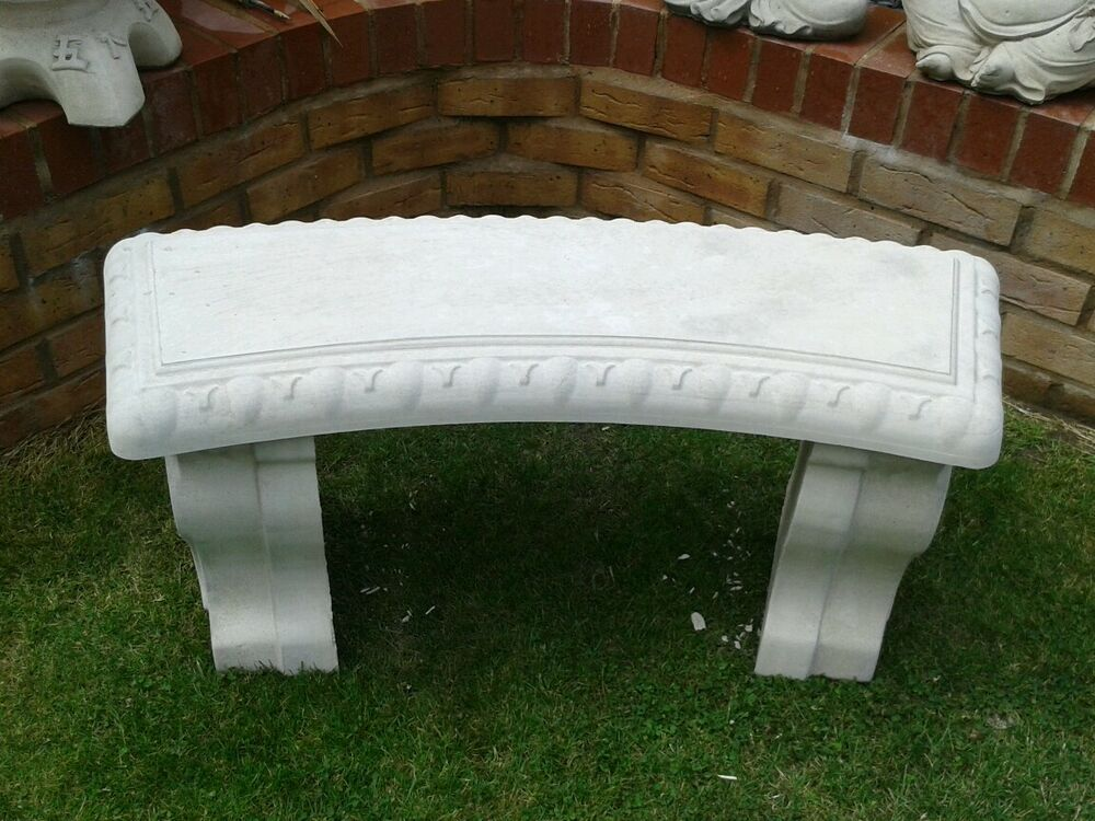 Garden Bench Curved Stone Concrete Bench Not Wooden Garden Bench Ebay
