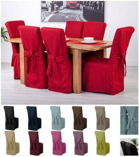 Dining Room Chair Back Covers: Fabric Slipcovers For Scroll Top High Back Leather Oak