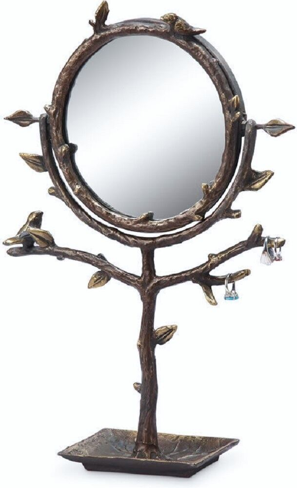 bird branch table vanity mirror jewelry tree holder stand display swivel ebay. Black Bedroom Furniture Sets. Home Design Ideas