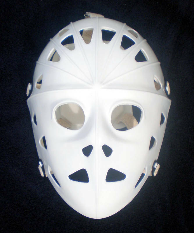 MYLEC VINTAGE STYLE WHITE HOCKEY GOALIE FACE MASK HELMET ...