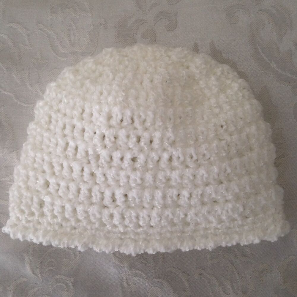 0cccda7e8cc Details about Hand Crocheted Baby Infant Toddler BEANIE CAP HAT Girls Boys  MADE IN THE USA