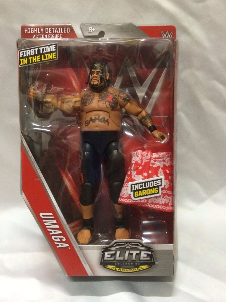 Toys From The 40s : Wwe umaga action figure elite series mattel toy new in