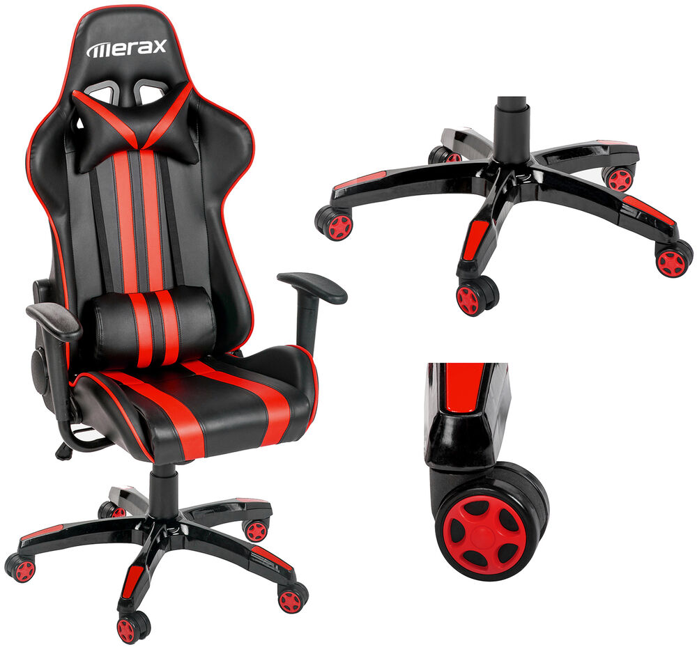 high back pu leather office chair executive racing gaming co