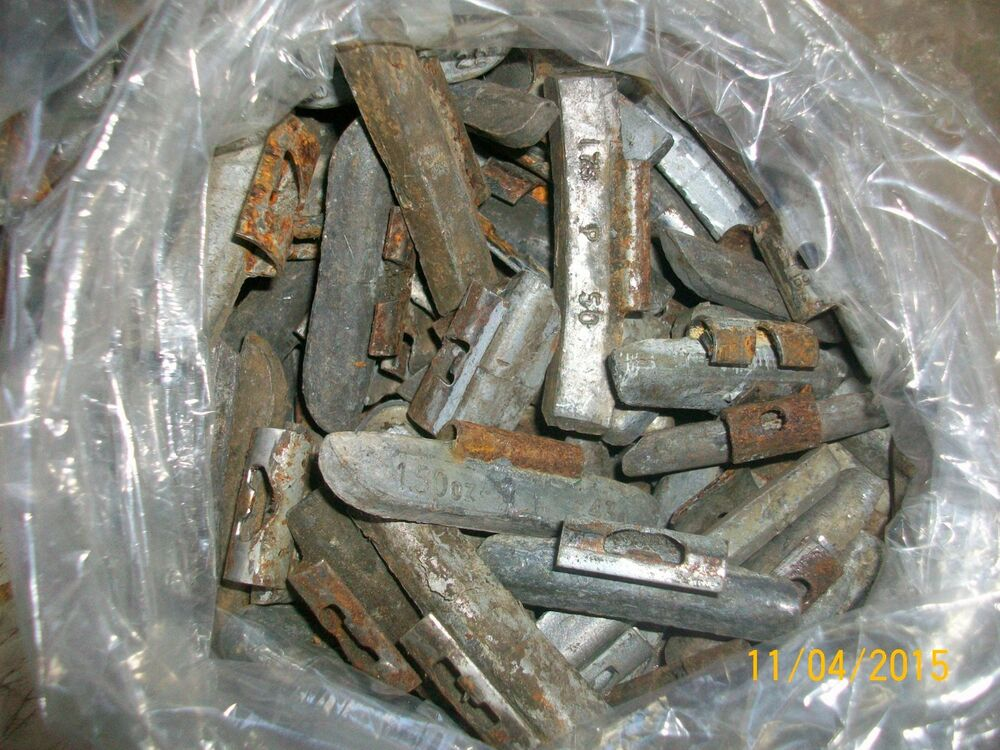 Lead Wheel Weights : Lead scrap wheel weights pounds for bullets no zinc