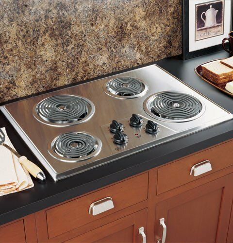 Electric Stove Top High Powered 4 Four Burners Cooktop
