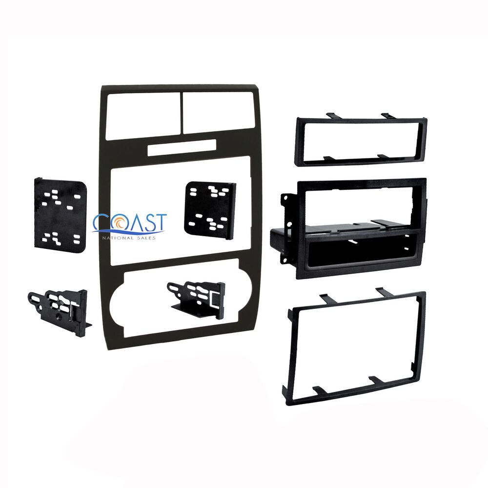 Car radio stereo double din black dash kit for 2005 2007 - Dodge magnum interior accessories ...