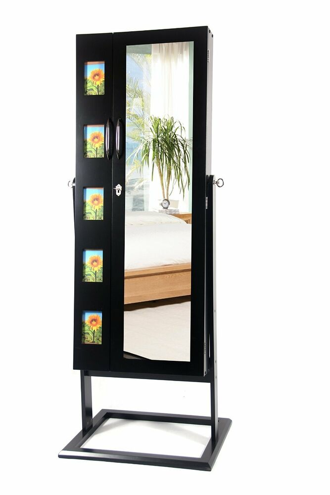 black mirrored cabinet mirrored jewelry cabinet mirror organizer armoire storage 12419