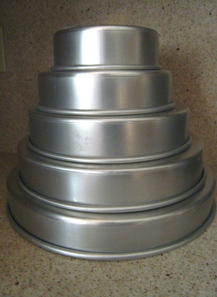 wedding cake baking pans magic line 2 quot professional wedding tier cake pans 6 21974