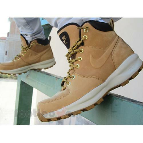 new concept ee77e 04195 Details about Schuhe Herren Nike Manoa Leather 454350 700 Ankle Boots Sand  Fashion Moda