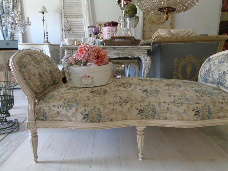 ltere recamiere ottomane frankreich louis xvi french shabby ebay. Black Bedroom Furniture Sets. Home Design Ideas