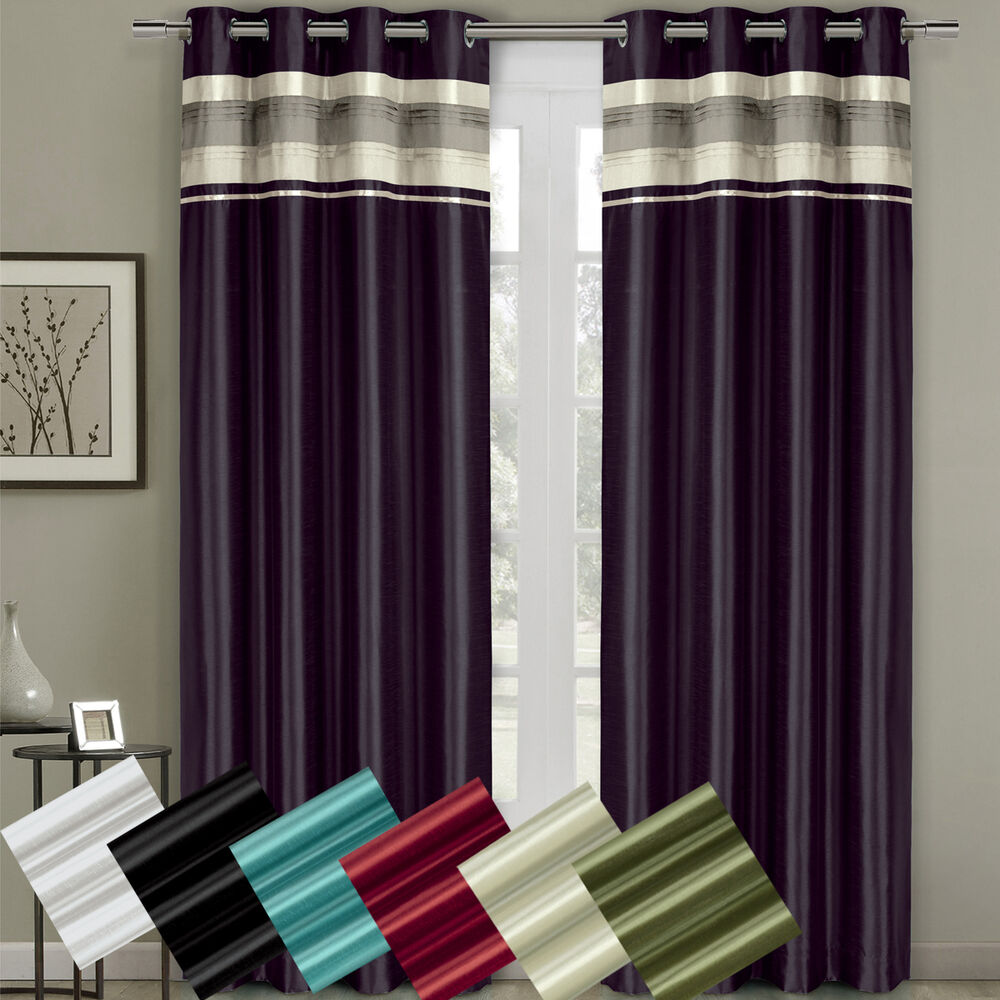 Milan Grommet Blackout 54 X 108 Window Curtains Single