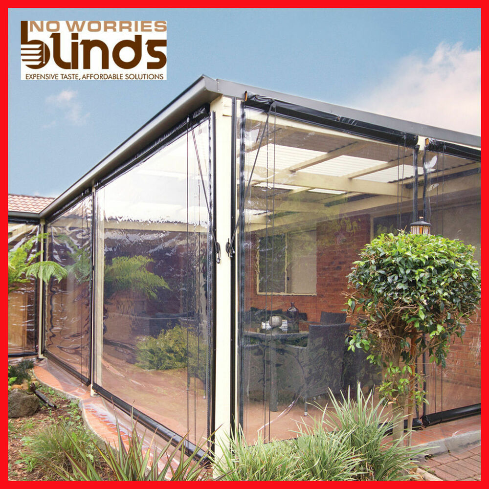 new 120 x 240 clear bistro cafe blind pvc patio backyard outdoor verandah cover ebay. Black Bedroom Furniture Sets. Home Design Ideas