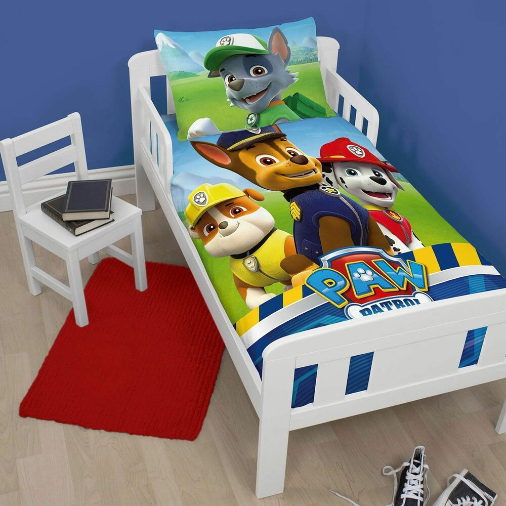 Paw Patrol Rescue Duvet Quilt Cover Bedding Set For Junior