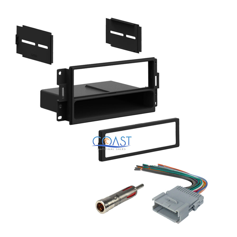 car stereo single din dash kit harness antenna for 2004. Black Bedroom Furniture Sets. Home Design Ideas