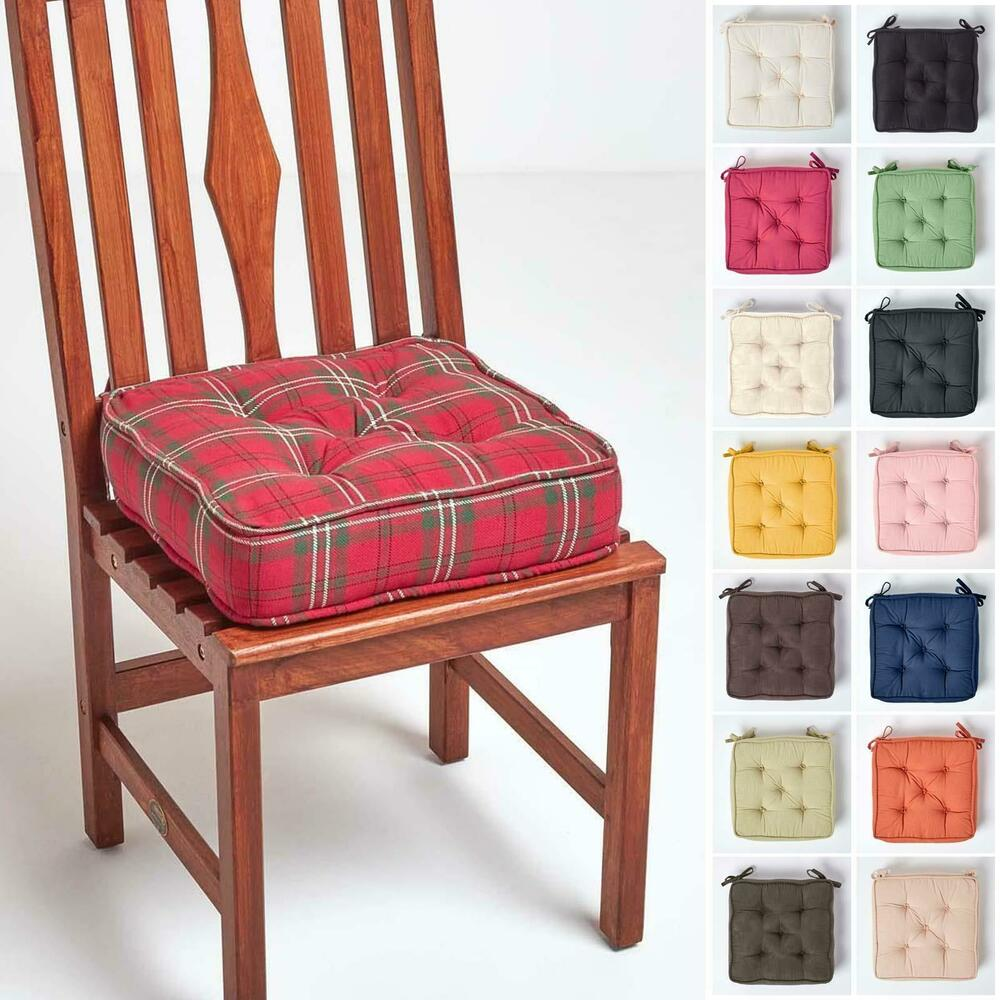 Dining Chair Cushion Kitchen Garden Square Chair Seat Pad ...