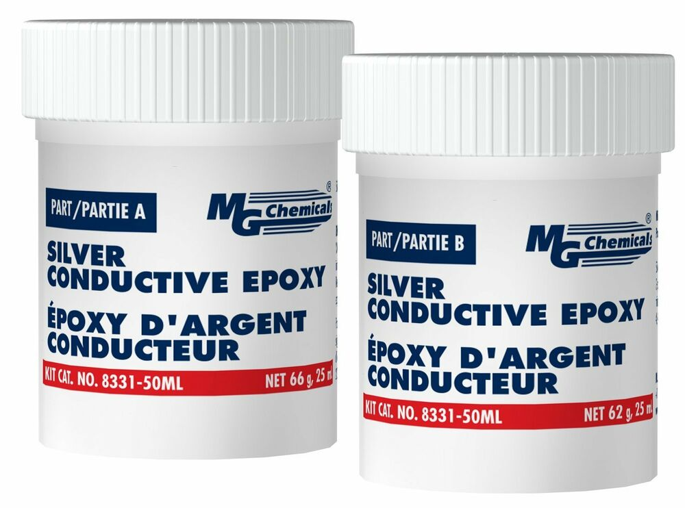 Mg Chemicals 8331s 50ml Two Part Silver Epoxy Highly